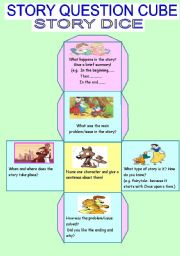 English Worksheets: A story cube/dice