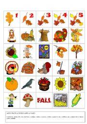 English Worksheet: autumn flashcards