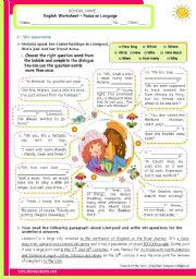 English Worksheets: Wh-Question in context  -  a 2-page ws with exercises for Intermediate and Lowwer Advanced students.