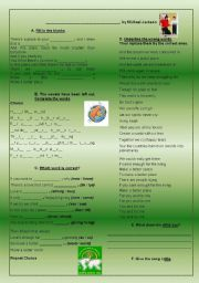 English Worksheets: Heal the World