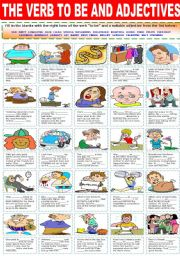 English Worksheet: ADJECTIVES AND THE VERB