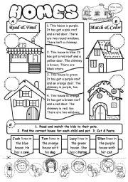 Homes - ESL worksheet by gabitza