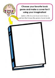 English Worksheets: Make a book cover!