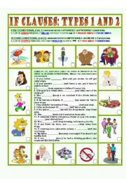 English Worksheet: If clauses: types 1 and 2