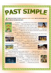 English Worksheet: Past Simple - MADAGASCAR: ESCAPE 2 AFRICA