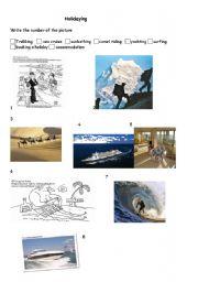 English Worksheets: Holidaying