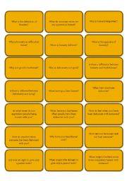 English Worksheet: 168 conversation cards