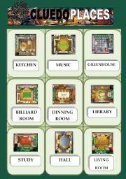 English Worksheet: CLUEDO GAME PART 2