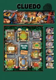 English Worksheets: CLUEDO GAME PART 1