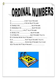 Days of the week and Ordinal Numbers