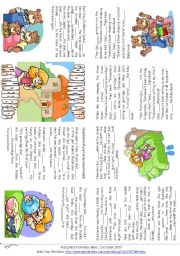 ... worksheets > Tales and stories > Goldilocks and the Three Bears