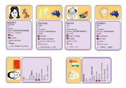 CARD GAMES 3/3 - Identity + likes + CAN + Possession (12 cards/24)