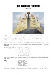 King Arthur & The Sword In The Stone - Play / Musical Script  -  8 pages. Really A LOT OF FUN !!!