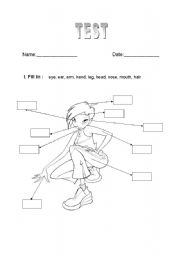 English worksheet: BODY