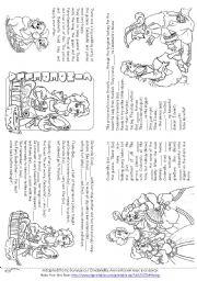 English Worksheet: Cinderella (Story Mini Book)