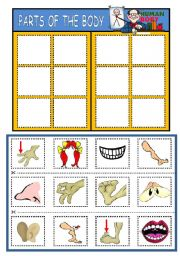 English Worksheet: PARTS OF THE BODY - BOARD GAME (PART 2)