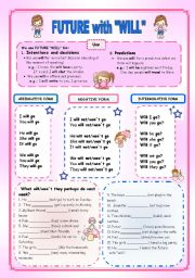 English Worksheet: FUTURE WITH