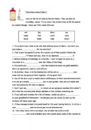 English Worksheets: That�s not a noun!