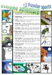 English Worksheet: EXTREME ADVENTURE 3