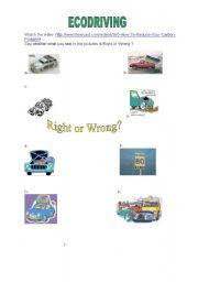 English Worksheets: ecodriving