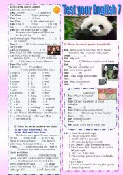 Test your English 7