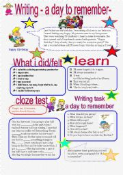 English Worksheet: A DAY TO REMEMBER