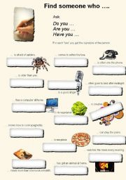 English Worksheets: collecting signatures 1