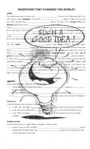 English Worksheet: Inventions that change the world
