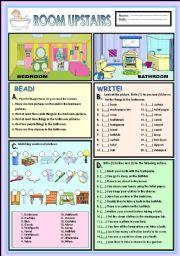English Worksheet: Room upstairs