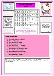 Hello Kitty´s Photo Album (2 of 2)  Exercises