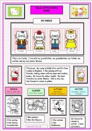 English Worksheet: Hello Kitty�s Photo Album (1 of  2)