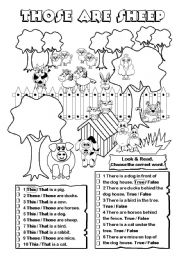 English Worksheet: Those are sheep