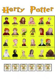 English Worksheets: HARRY POTTER: Simple Present (GUESS WHO)