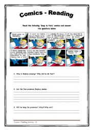English Worksheets: Comics - Reading - 13