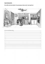 English Worksheets: Room description