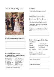 English Worksheet: Friends - The Wedding Dress