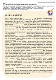 English Worksheet: Global Warming Video Activities