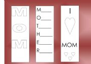 English Worksheet: mothers day book marks