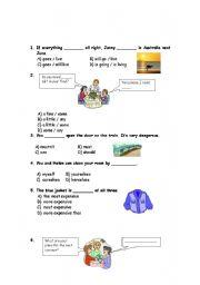 English Worksheets: mixed worksheet