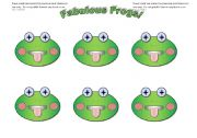 English Worksheet: Frog cards (add your own text)