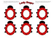 English Worksheets: Lady Bug/ Lady Bird Frames (Use them with my ladybug gameboard.)
