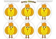 English Worksheets: Chick Cards (Add your own text)