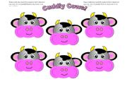 English Worksheets: Cow Cards (Add your own text) Use them with my cow gameboard.