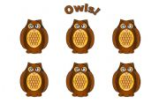 English Worksheets: Owl Cards (Add Your Own Text)