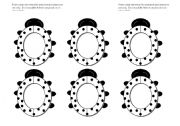 English Worksheets: Lady Bug/ Lady Bird Frames Black and White (Use them with my ladybug gameboard.)