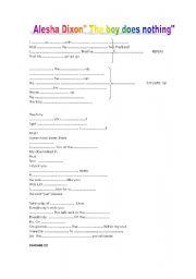 English Worksheet: alesha Dixon
