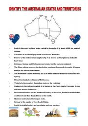 English Worksheets: Australian geography - puzzle
