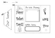 English Worksheet: Our home - Mother´s Day card