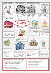 English Worksheets: Places