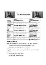 Passive voice through Anne Frank´s story